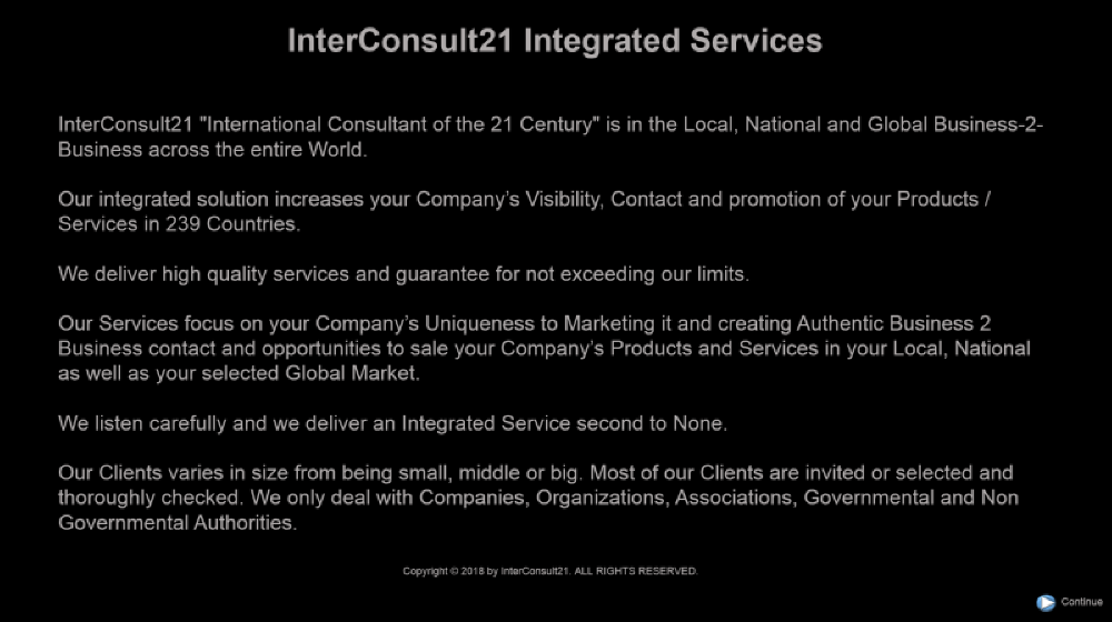 Ibtegrated Services. Copyright © InterConsult21.